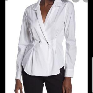 Laundry Double Breasted Poplin Shirt SZ L NWT
